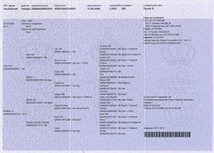 Регистрационный сертификат для лошадей из KFPS main book